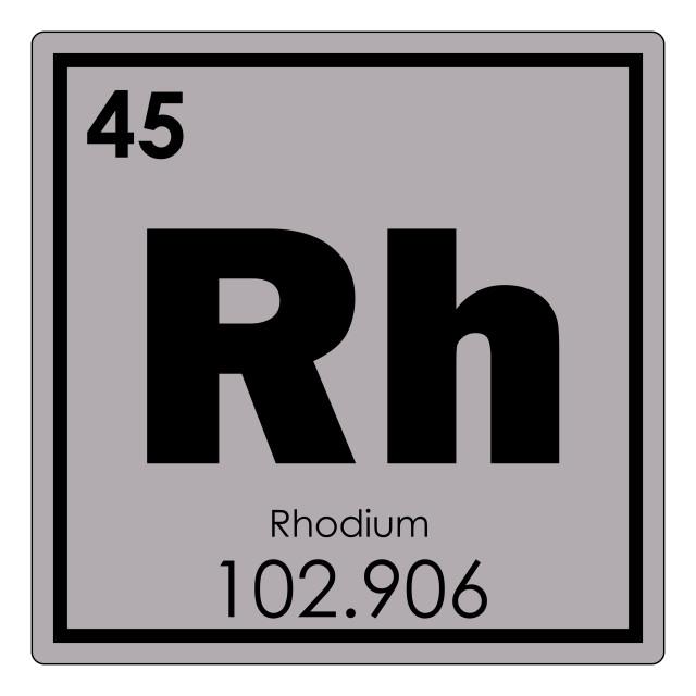 """Rhodium chemical element"" stock image"