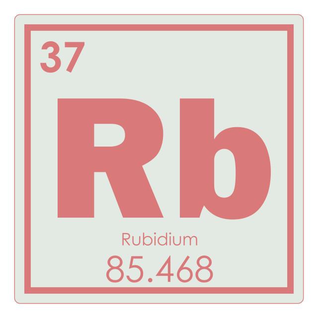 """Rubidium chemical element"" stock image"