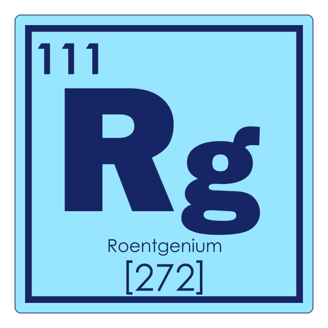 """Roentgeniumv chemical element"" stock image"