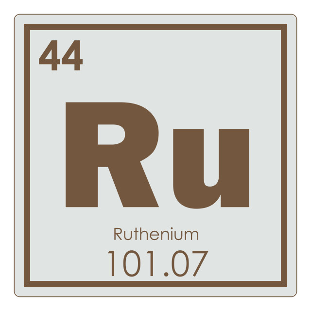 """""""Ruthenium chemical element"""" stock image"""