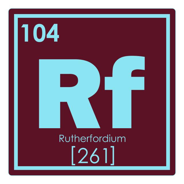 """Rutherfordium chemical element"" stock image"