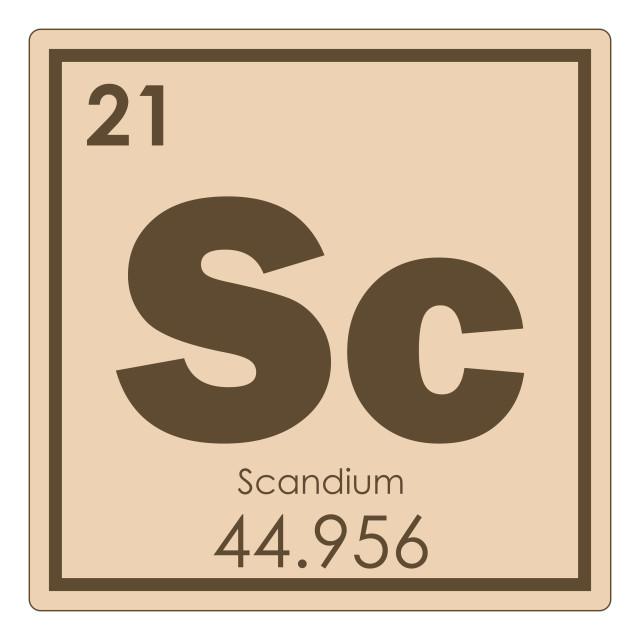 """Scandium chemical element"" stock image"