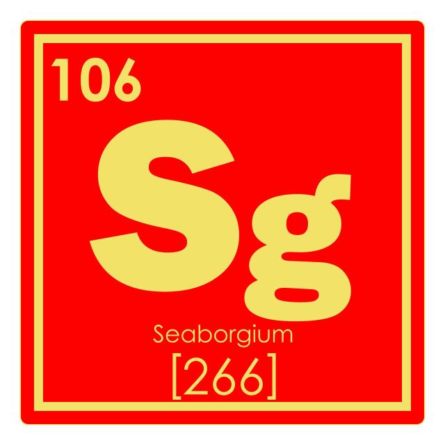 """Seaborgium chemical element"" stock image"
