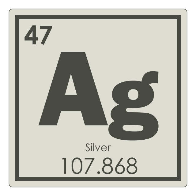 """""""Silver chemical element"""" stock image"""