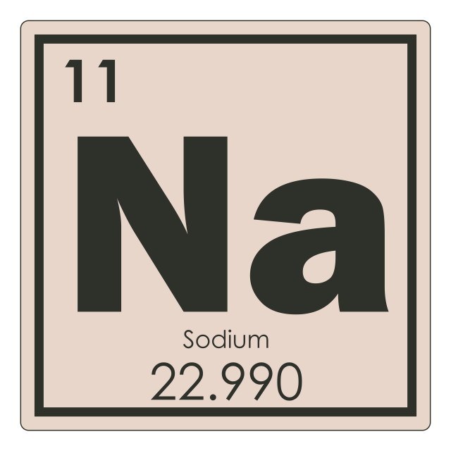 """""""Sodium chemical element"""" stock image"""