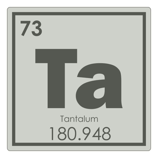 """Tantalum chemical element"" stock image"