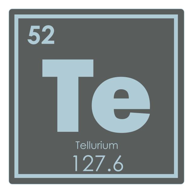 """""""Tellurium chemical element"""" stock image"""