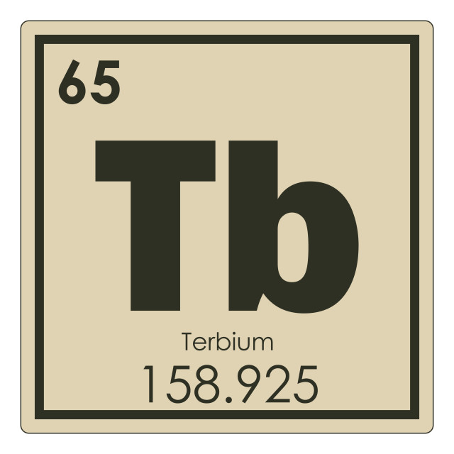 """Terbium chemical element"" stock image"