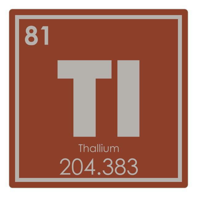 """Thallium chemical element"" stock image"