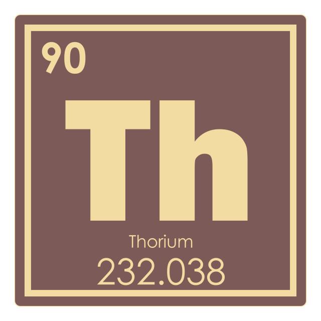 """""""Thorium chemical element"""" stock image"""