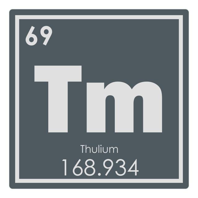 """Thulium chemical element"" stock image"