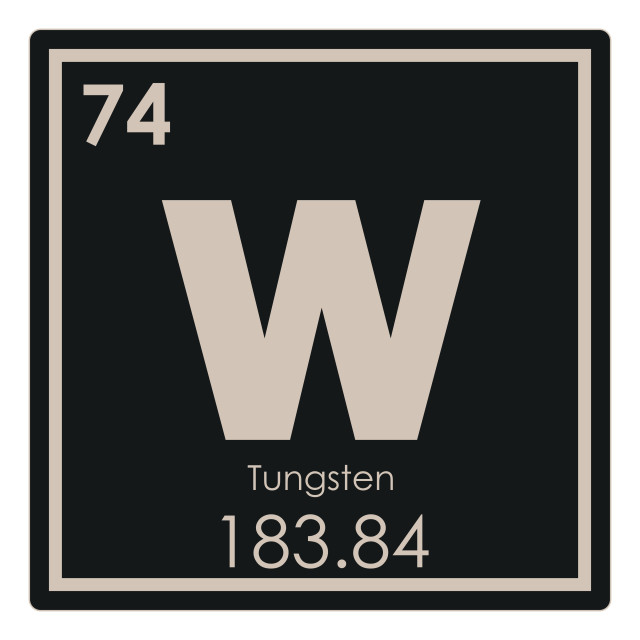 """""""Tungsten chemical element"""" stock image"""