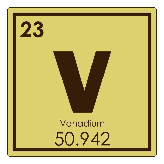 """Vanadium chemical element"" stock image"