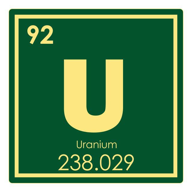 """Uranium chemical element"" stock image"