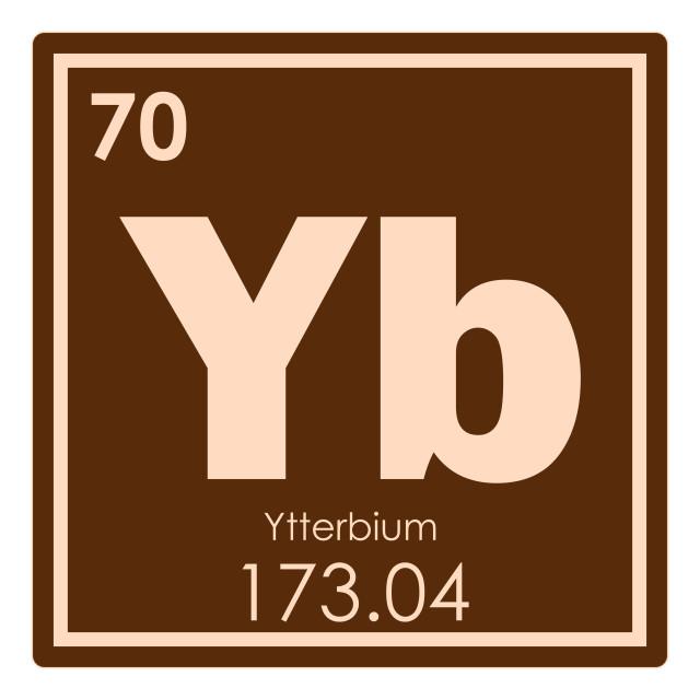 """Ytterbium chemical element"" stock image"