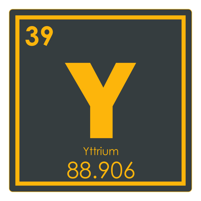 """Yttrium chemical element"" stock image"
