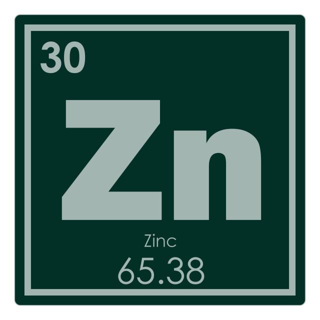 """Zinc chemical element"" stock image"