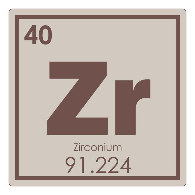 """Zirconium chemical element"" stock image"