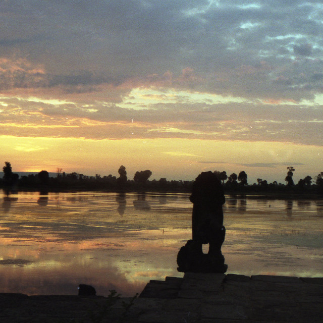 """Sunrise at Ankor Wat, Cambodia,"" stock image"