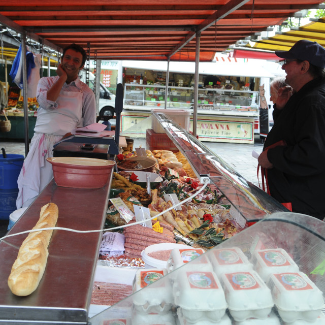 """Paris, food market"" stock image"