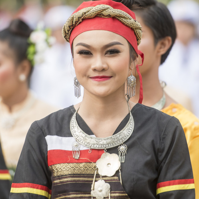"""THAILAND BURIRAM SATUEK TRADITION THAI DANCE"" stock image"