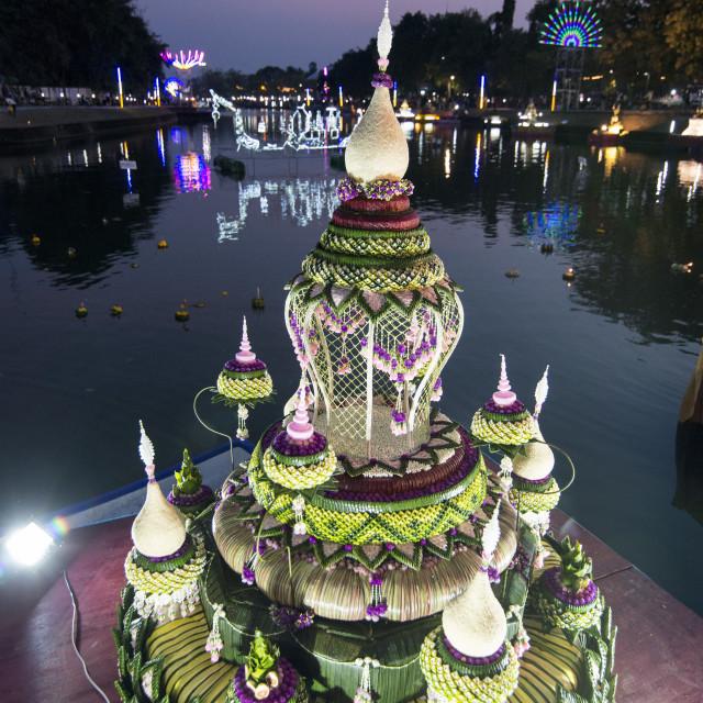 """THAILAND BURIRAM LOY KRATHONG FESTIVAL"" stock image"