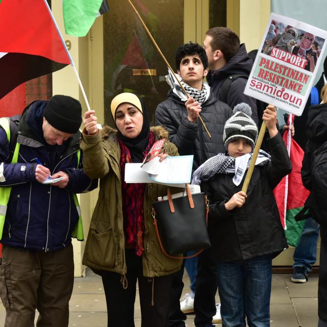 """""""Palestine's Land Day in London, UK"""" stock image"""