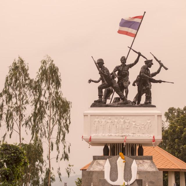 """""""THAILAND BURIRAM RAO SU MONUMENT"""" stock image"""