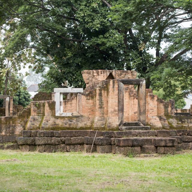 """THAILAND BURIRAM KHMER TEMPLE PRASAT MUANG TAM"" stock image"