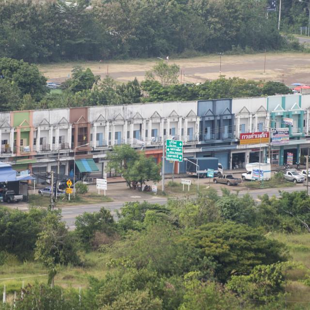 """THAILAND BURIRAM CITY SHOPS ARCHITECTURE"" stock image"