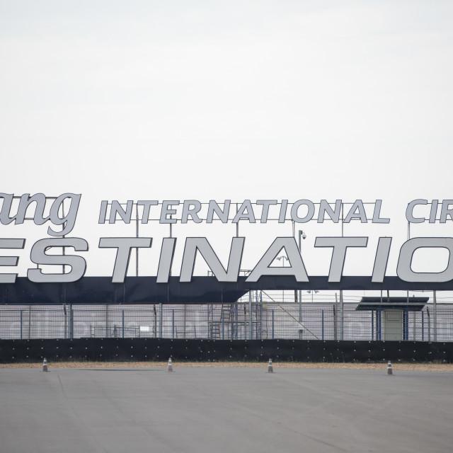"""THAILAND BURIRAM SPORT CRICUIT MOTO GP"" stock image"