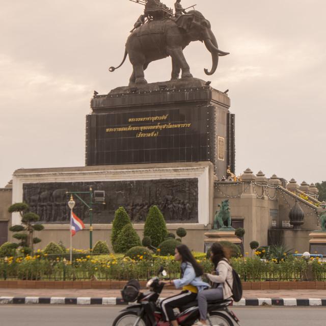 """THAILAND BURIRAM CITY RAMA 1 MONUMENT"" stock image"