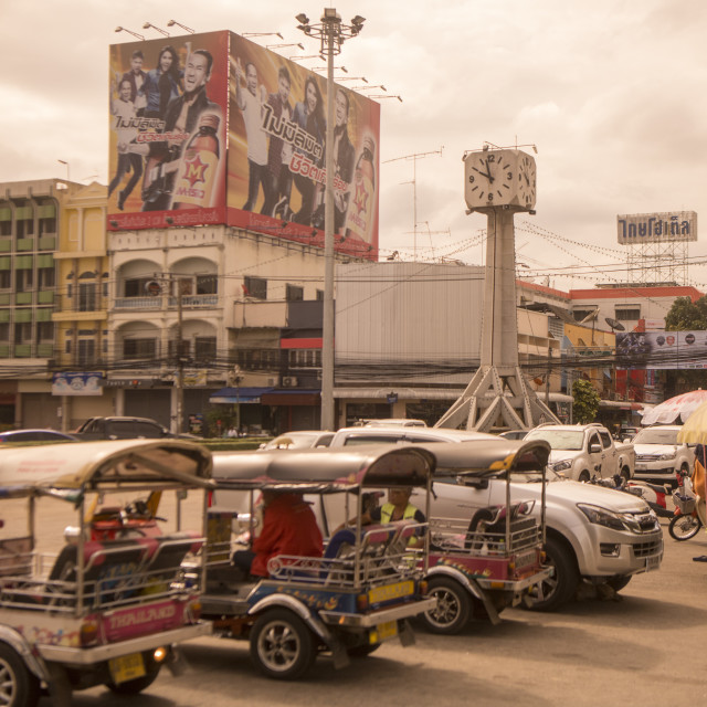 """THAILAND BURIRAM CITY CENTRE CLOCK TOWER"" stock image"