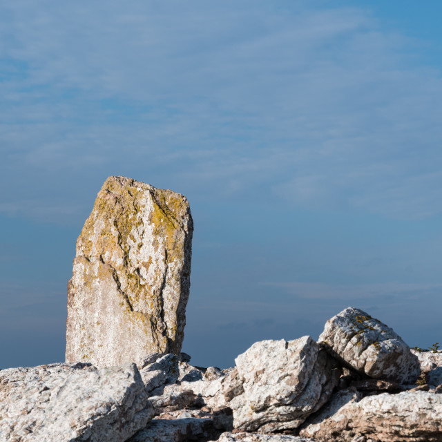 """""""Old standing stone monument"""" stock image"""