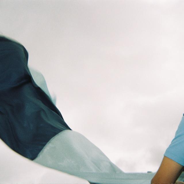 """""""Football flag waving"""" stock image"""