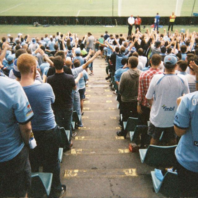 """Football crowd"" stock image"