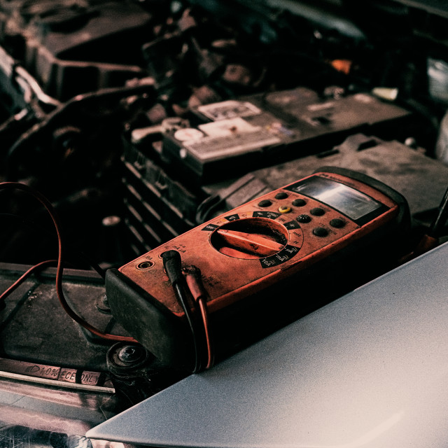 """Garage car ngine diagnostic"" stock image"
