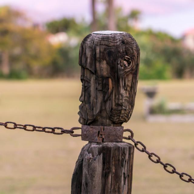 """Slave statue in Haiti"" stock image"