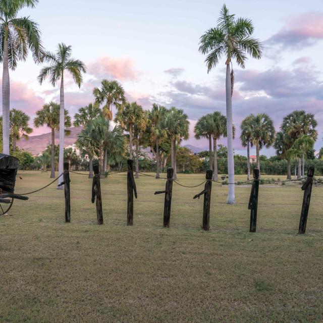 """Slave art installation in Haiti"" stock image"