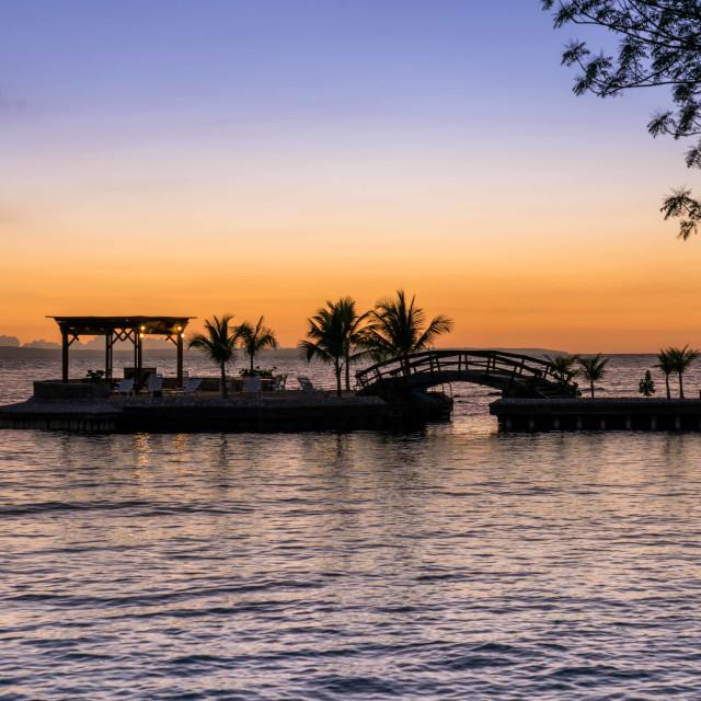 """""""Haiti sunset"""" stock image"""