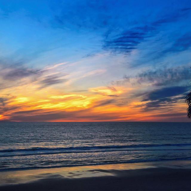 """Solana Beach sunset"" stock image"