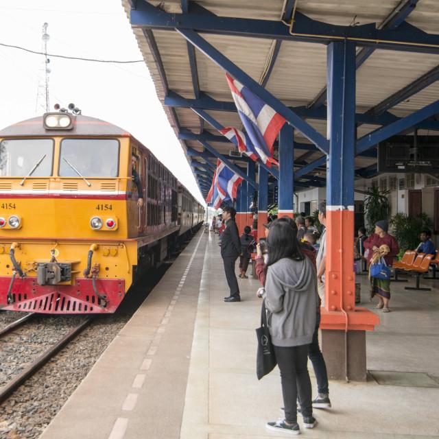"""""""THAILAND BURIRAM RAILWAY STATION"""" stock image"""