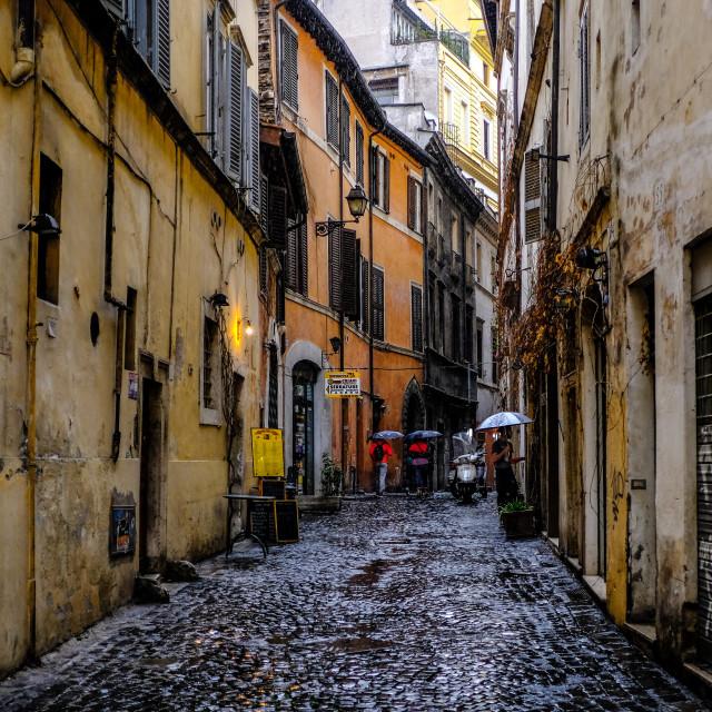 """Rome street scene"" stock image"