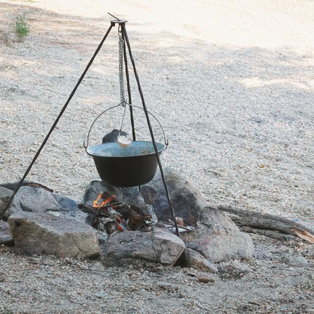 """Cauldron on Tripod"" stock image"