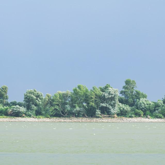 """""""Danube River Storm"""" stock image"""