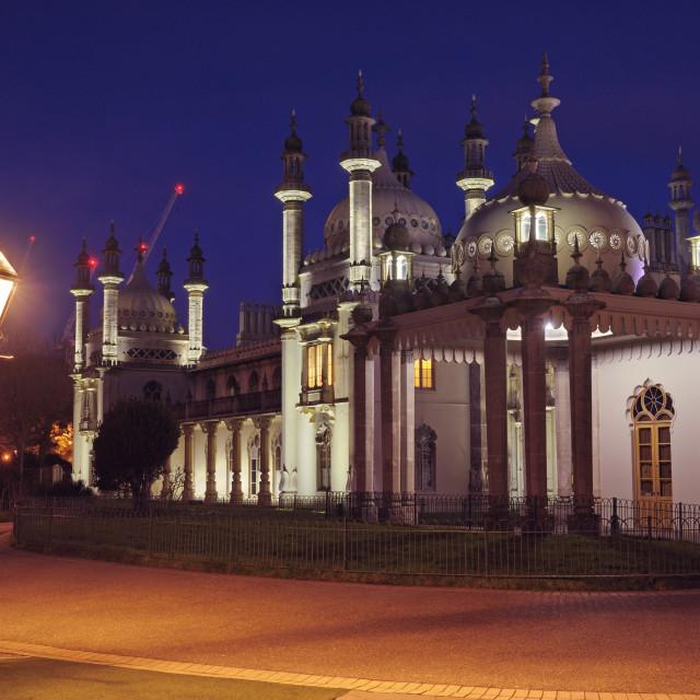 """Brighton Royal Pavilion at dusk"" stock image"