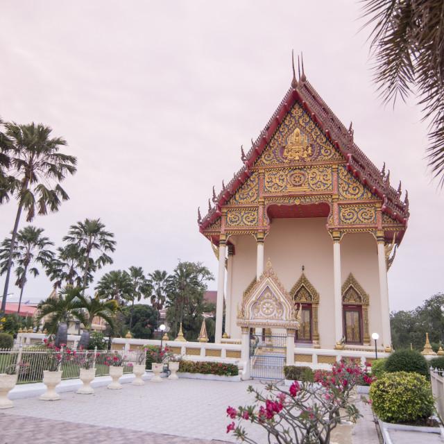"""THAILAND BURIRAM CITY WAT KLANG"" stock image"