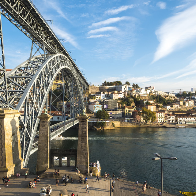 """Dom Luis I bridge in Porto Portugal"" stock image"