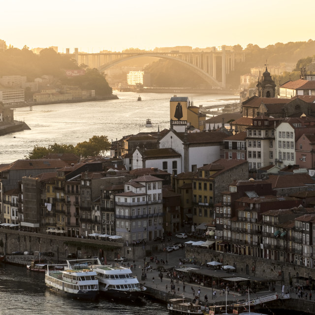 """Old town Porto Portugal"" stock image"