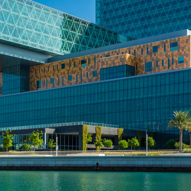 """Cleveland Clinic, Abu Dhabi, United Arab Emirates"" stock image"